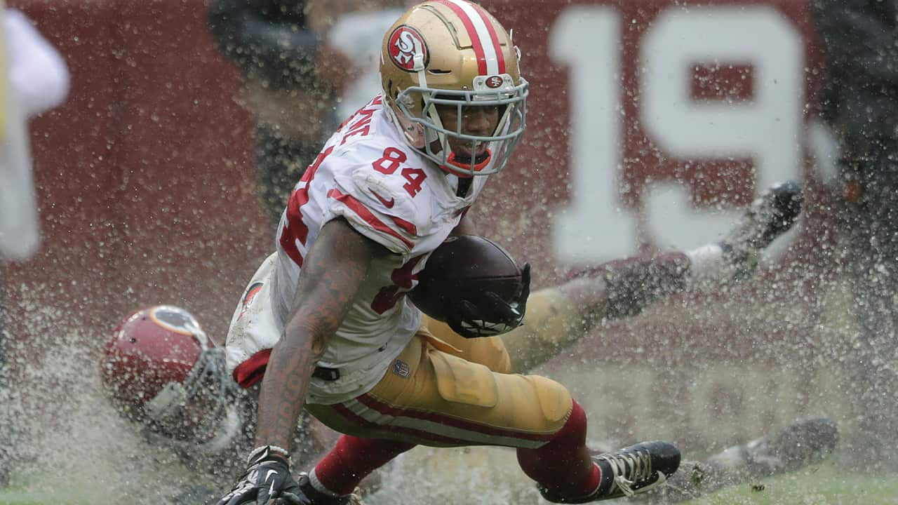Photo of Kendrick Brown rushing the ball