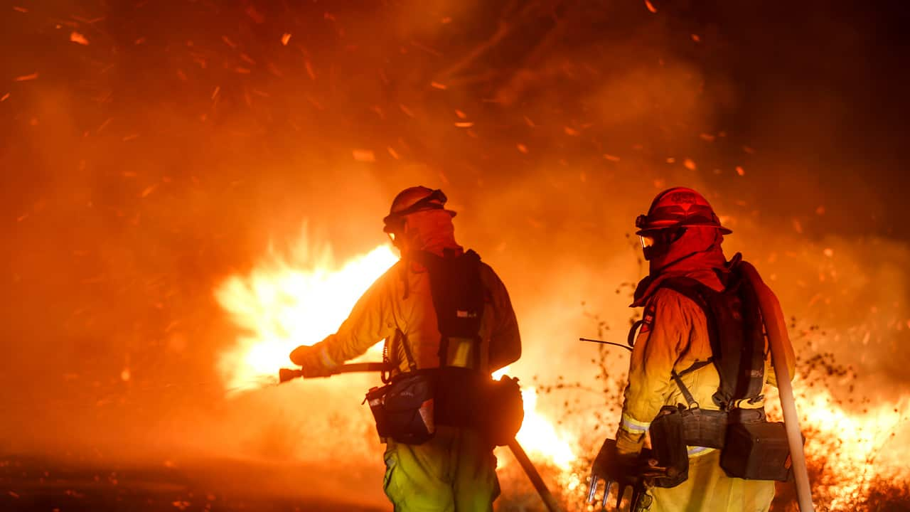 Photo of firefighters