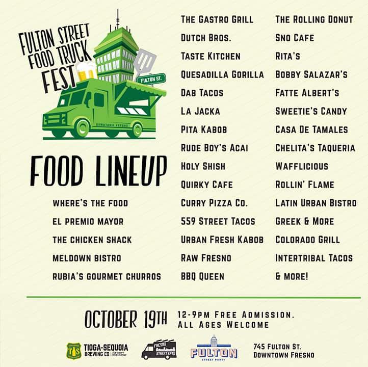 Poster of participants in Fulton Street Truck FestR