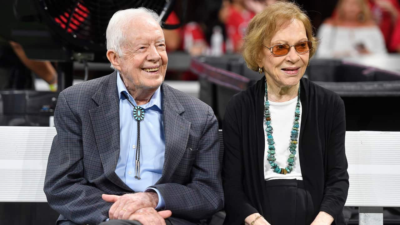 Photo of former President Jimmy Carter and Rosalynn Carter