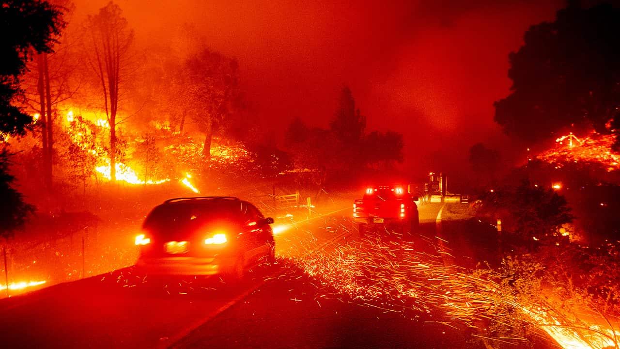 Photo of the Kincade Fire