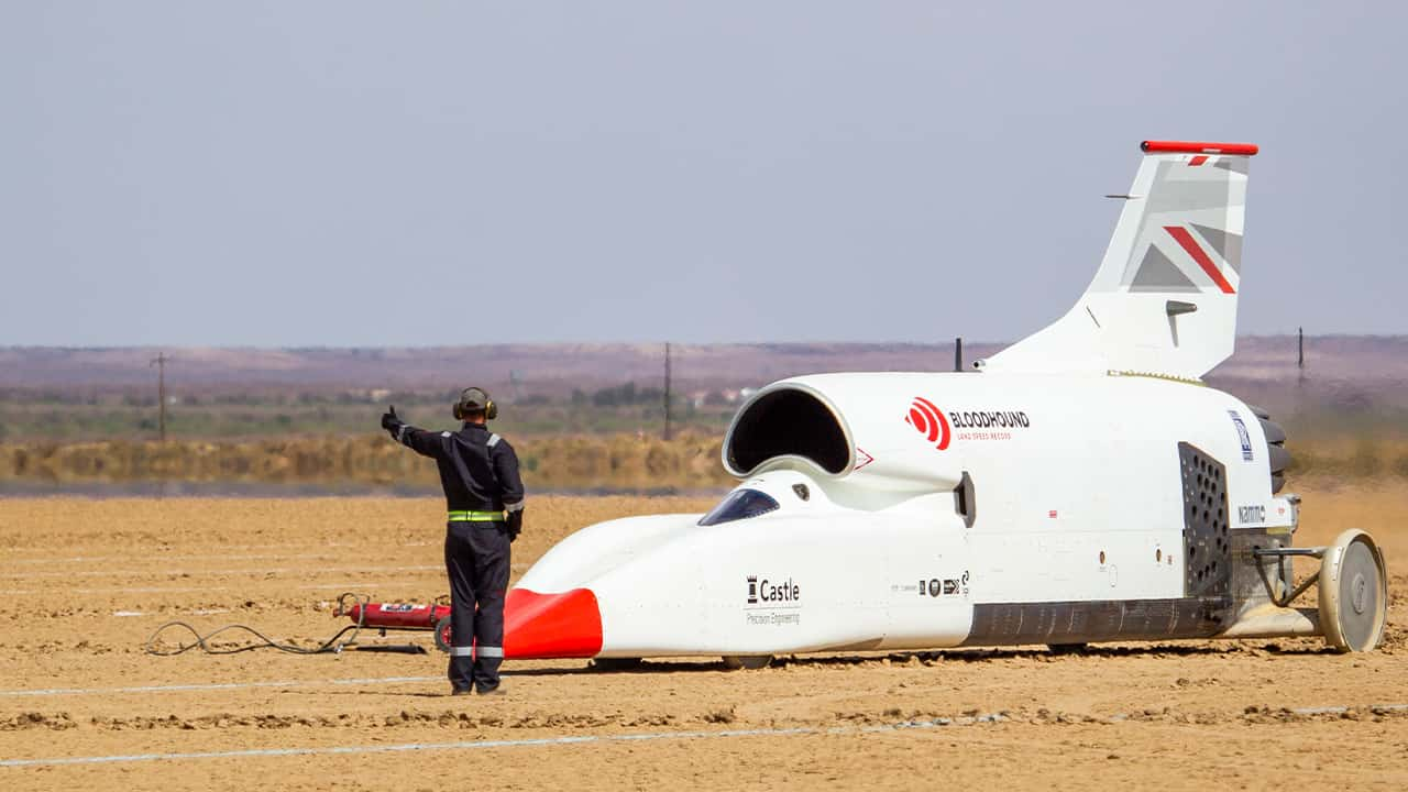 Photo of Bloodhound vehicle