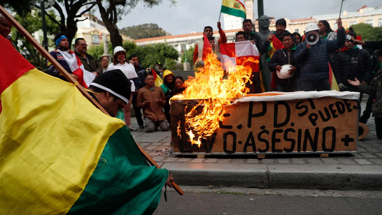 Photo of protests in Bolivia