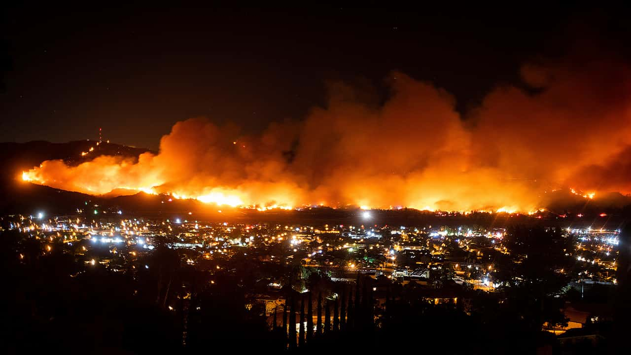 Photo of the Maria Fire