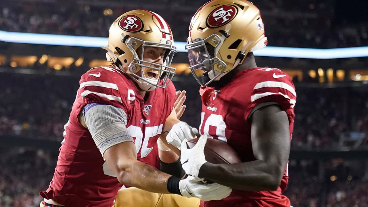 Photo of Deebo Samuel and George Kittle