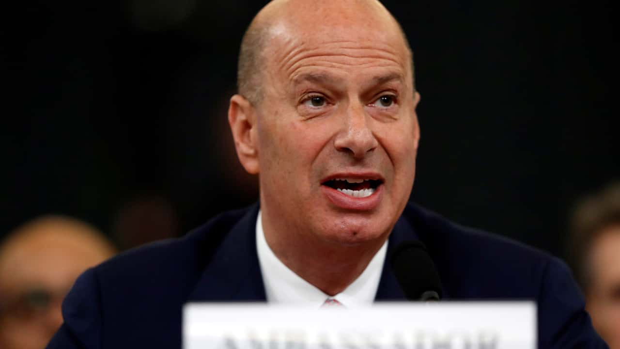 Photo of U.S. Ambassador to the European Union Gordon Sondland giving his statement