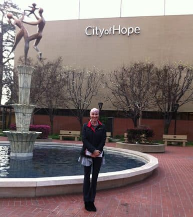 Photo of Laura Holmes Haddad at City of Hope in 2018