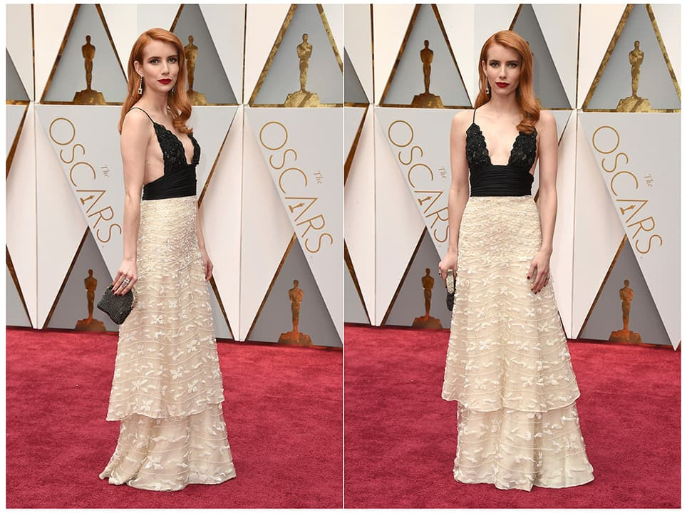 Photo of Emma Roberts wearing vintage Armani Prive at the Oscars