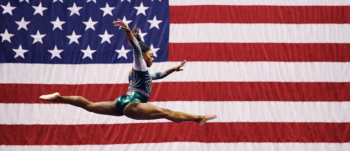 Photo of Simone Biles during the 2019 U.S. Gymnastics Championships