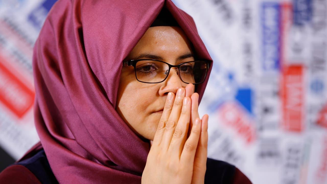 Photo of Hatice Cengiz, fiancee of Jamal Khashoggi