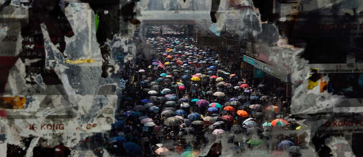 Photo of protestors in Hong Kong