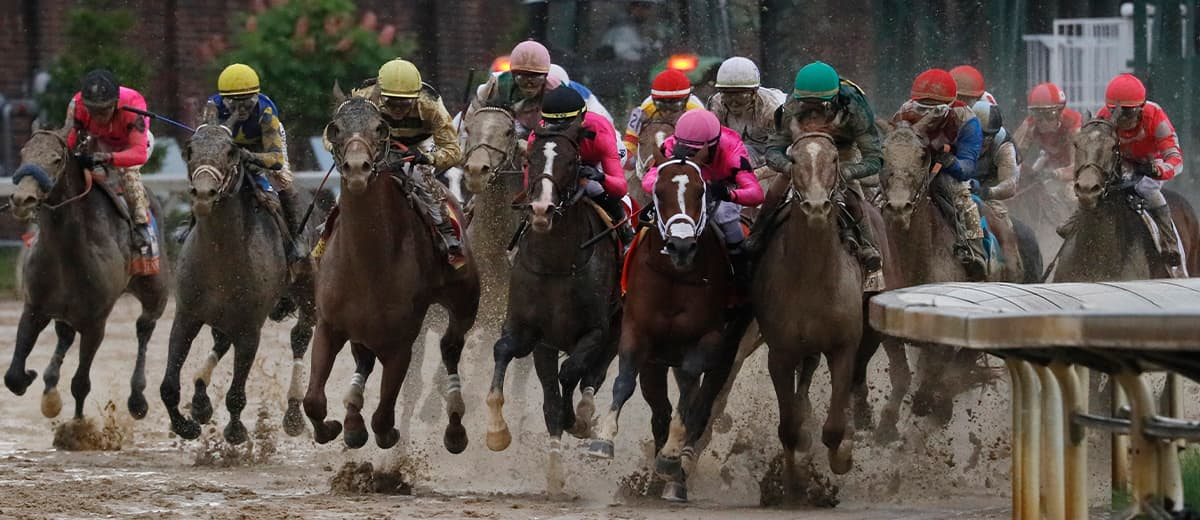Photo of the 145th running of the Kentucky Derby horse race