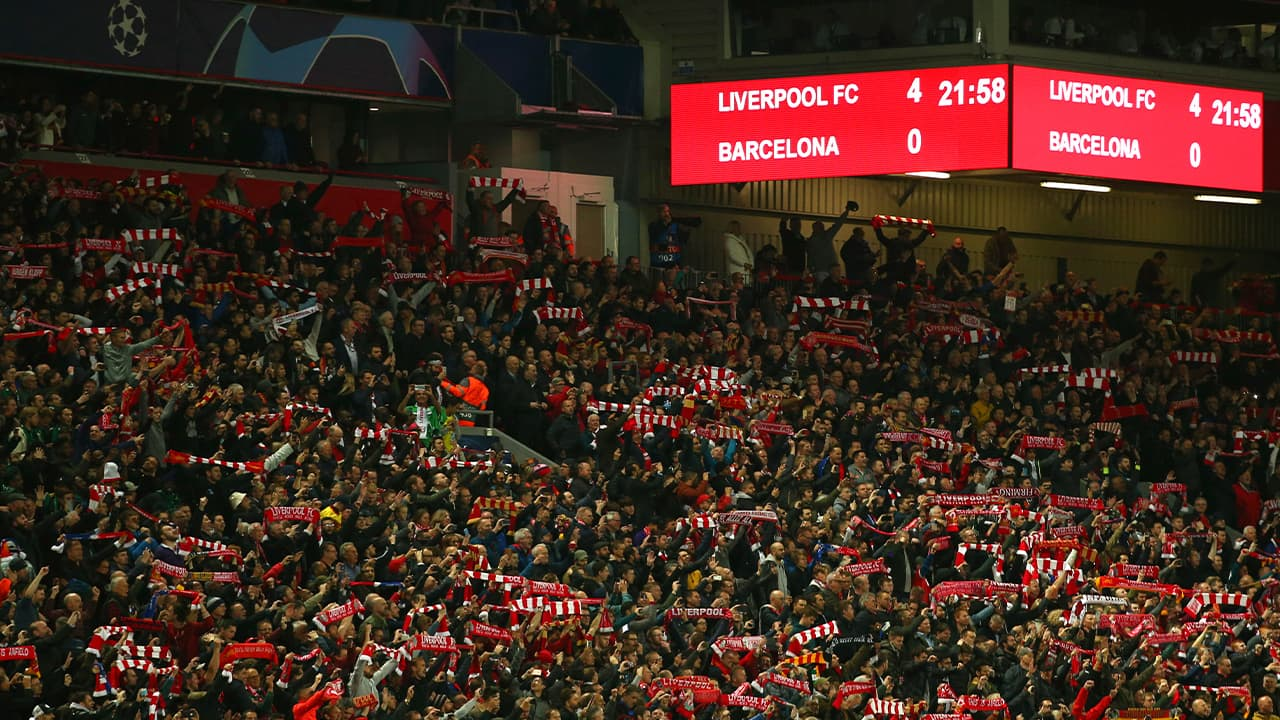 Photo of Liverpool supporters