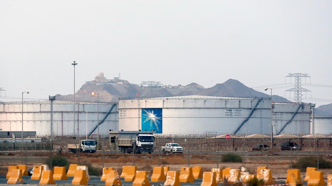 Photo of storage tanks at the North Jiddah bulk plant