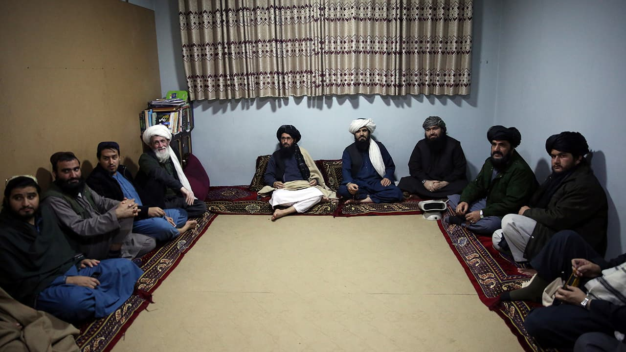 Photo of jailed Taliban are seen after an interview