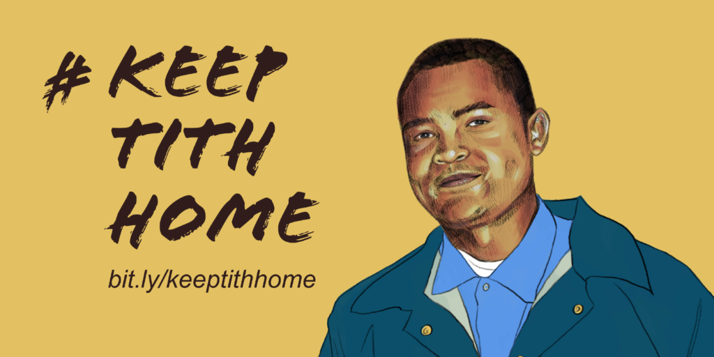 """An image of Tith Ton with the words """"Keep Tith Home"""""""
