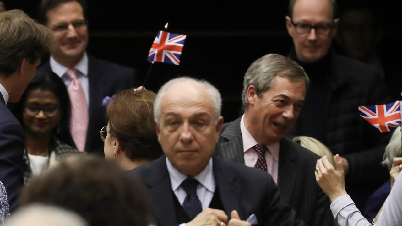 Photo of Brexit Party leader Nigel Farage, third right