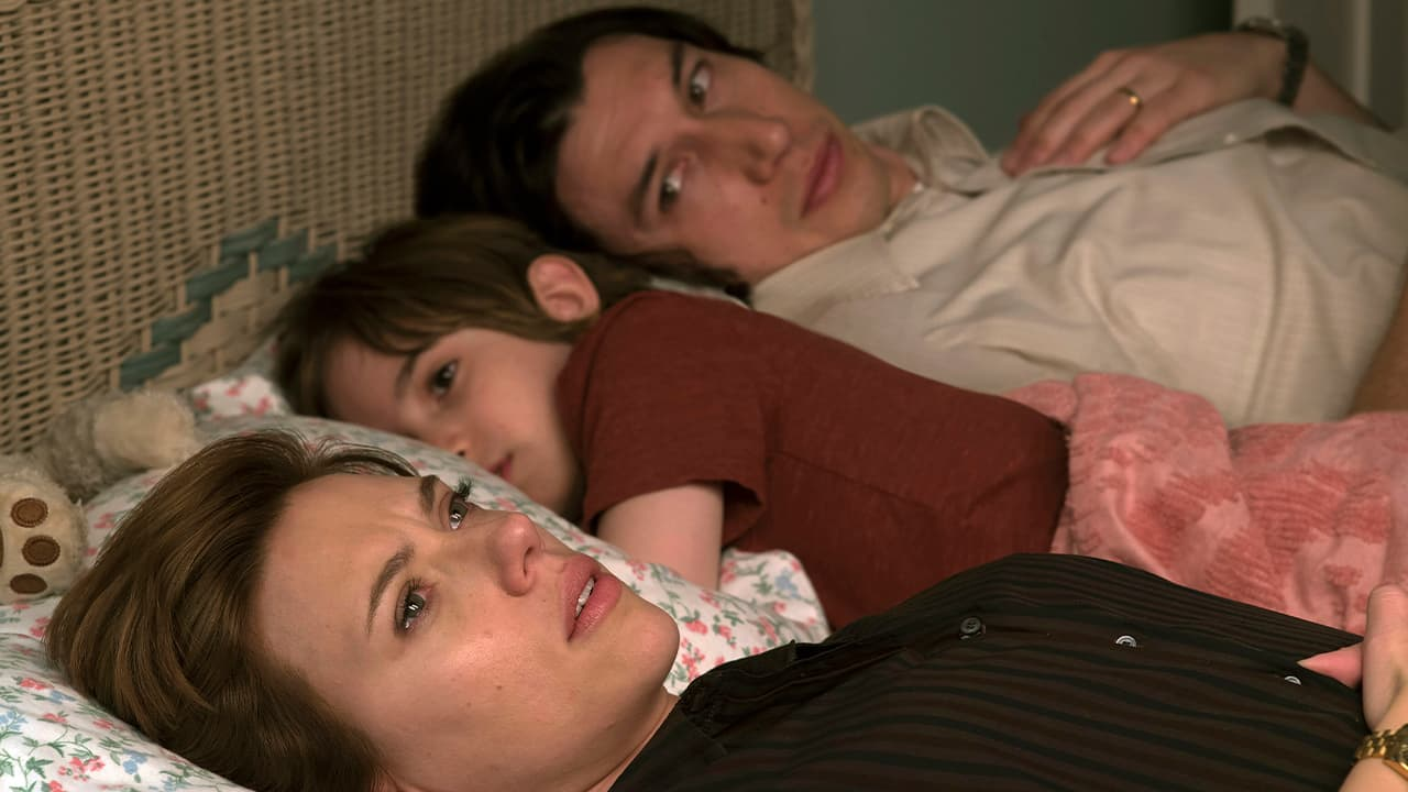 """Photo of Scarlett Johansson, left, and Adam Driver in """"Marriage Story."""""""