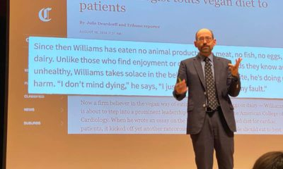 Photo of Dr. Michael Greger at Fresno City College