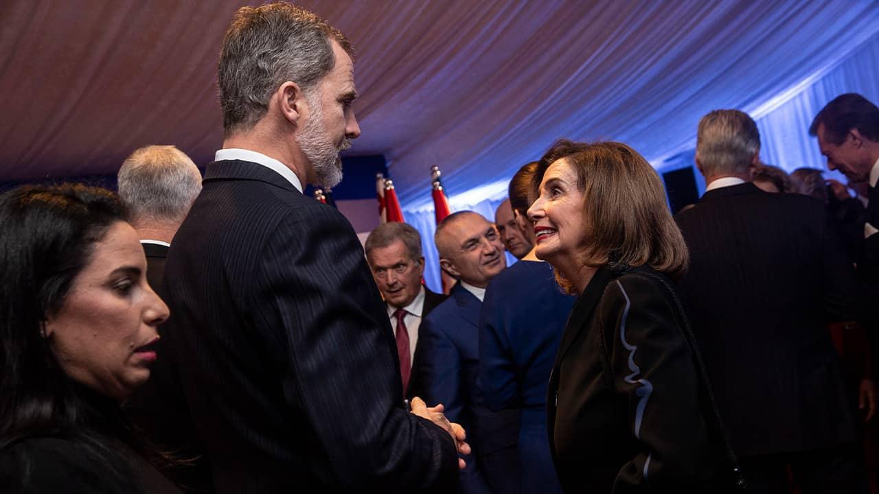 Photo of Spain's King Felipe VI and Speaker of the House Nancy Pelosi