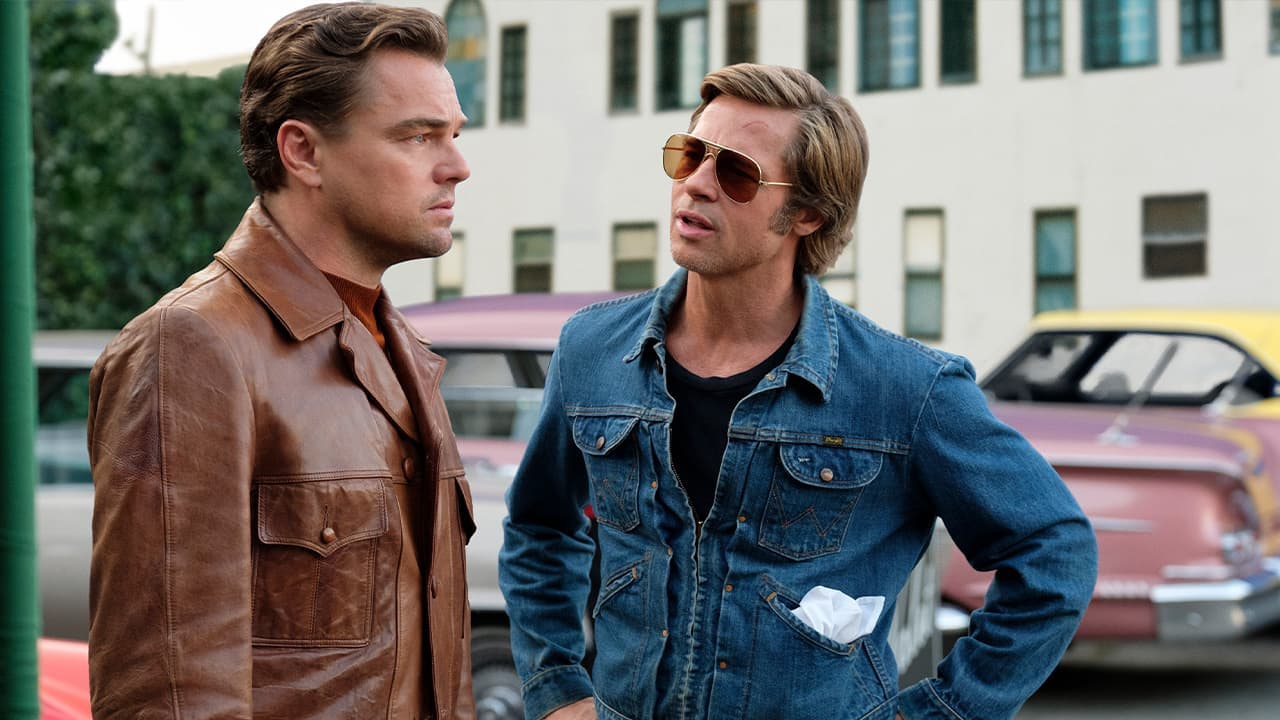"""Photo of Leonardo DiCaprio, left, and Brad Pitt in a scene from """"Once Upon a Time in Hollywood."""""""