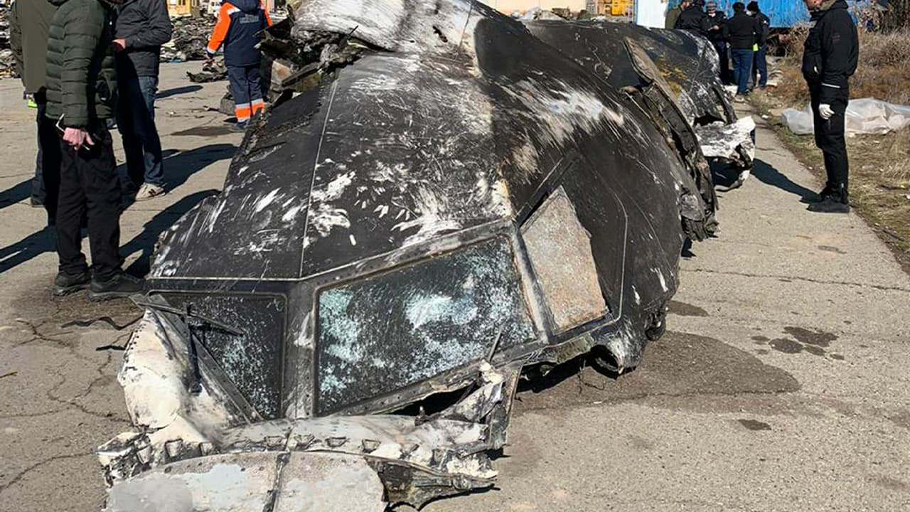 Photo of the wreckage of the Ukrainian plane that crashed in Tehran