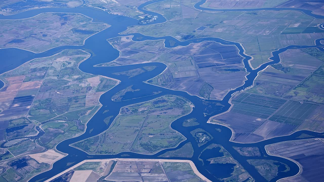 Photo of an aerial view of the Sacramento