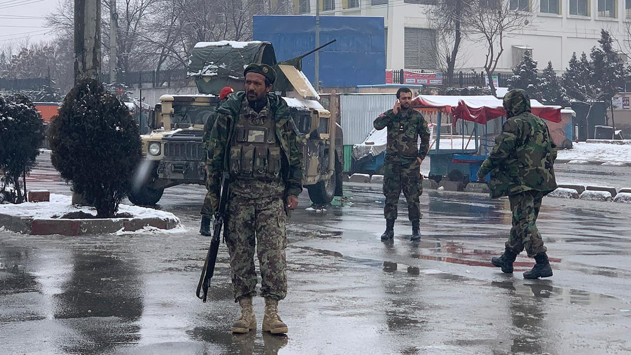 Photo of national army soldiers in Kabul
