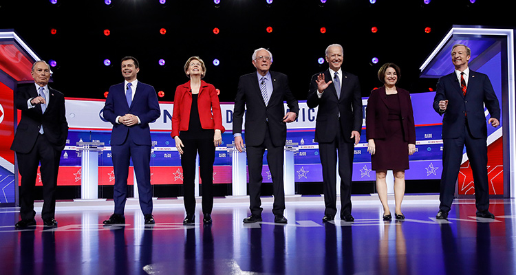 Photo of the Democratic presidential candidates