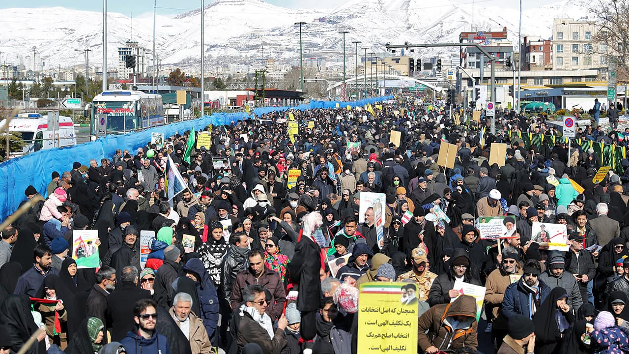 Photo of a rally in Iran