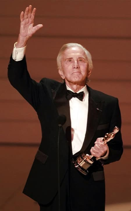 Photo of Kirk Douglas accepting an award