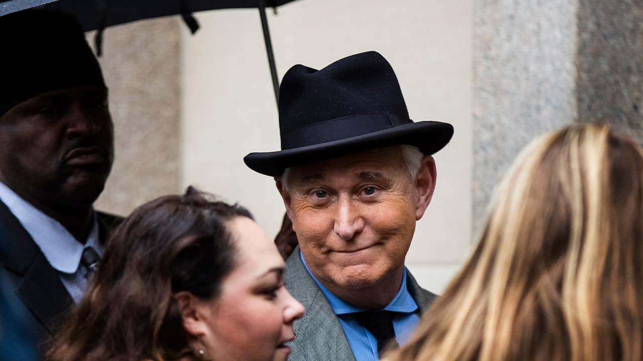 Photo of Roger Stone, a longtime Republican provocateur and former confidant of President Donald Trump