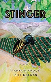 "Color cover of the novel ""Stinger"" by Tanya Nichols and Bill McEwen"