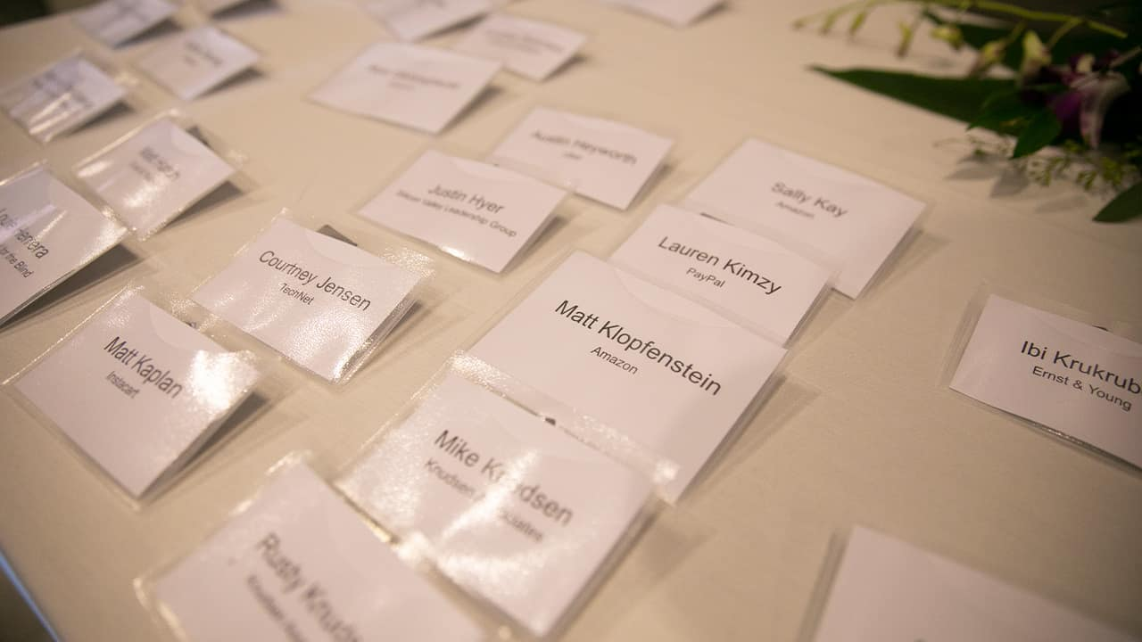 Photo of name tags