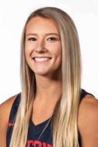 Portrait of Fresno State basketball player Maddi Utti