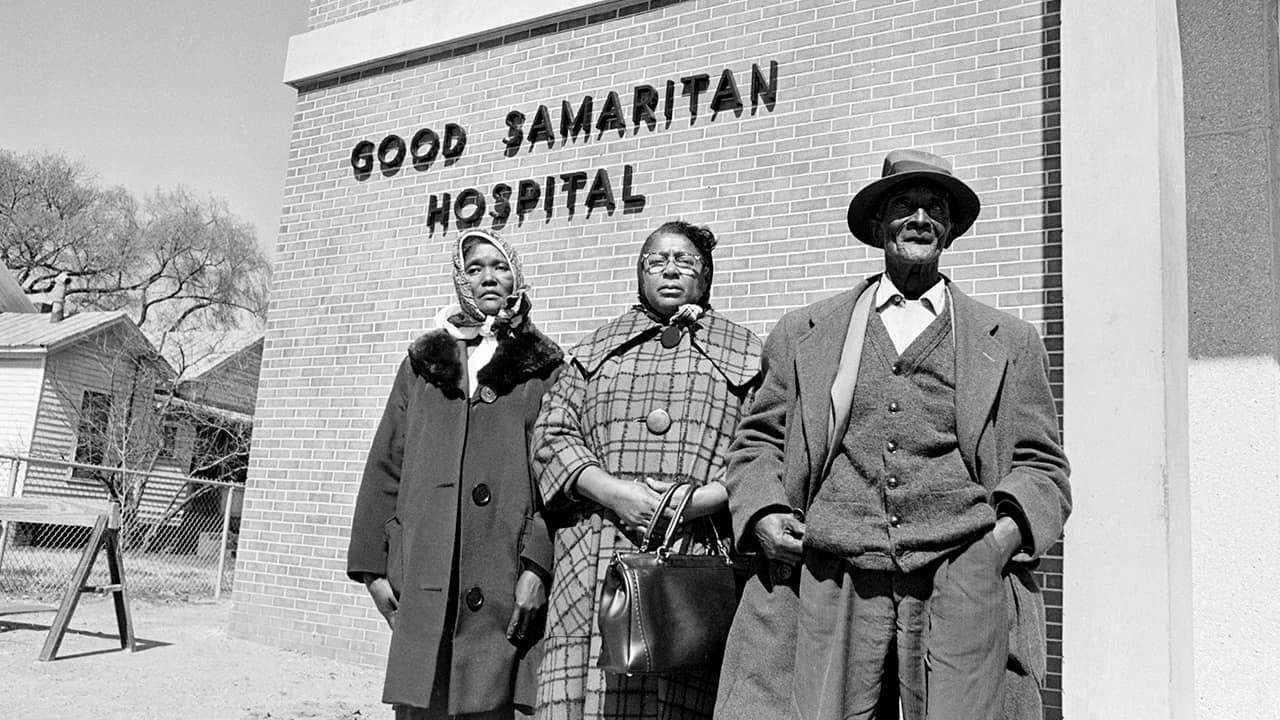 Photo of Viola Jackson, left, mother of Jimmie Lee Jackson, 26, who died, Feb. 26, 1965 at a Selma, Ala.