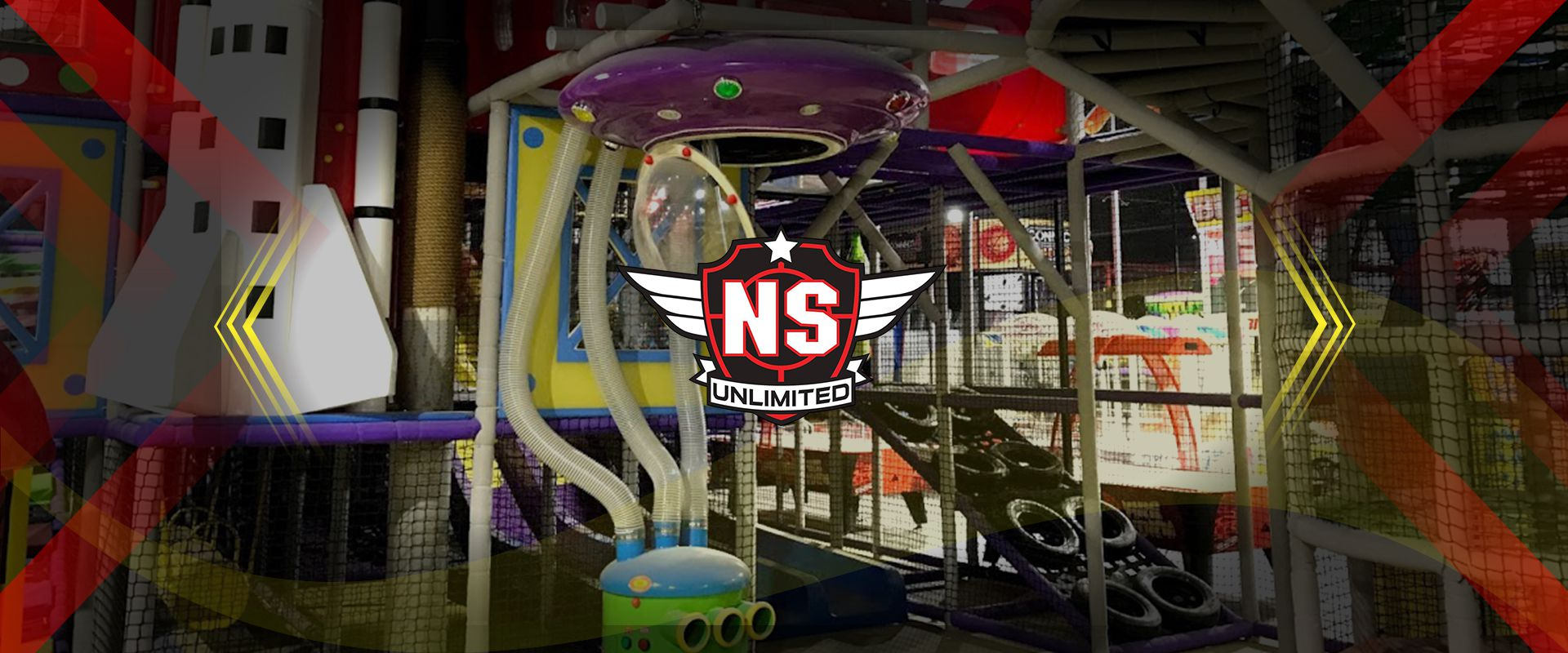 Picture of the interior of No Surrender, a laser tag center in Clovis, California