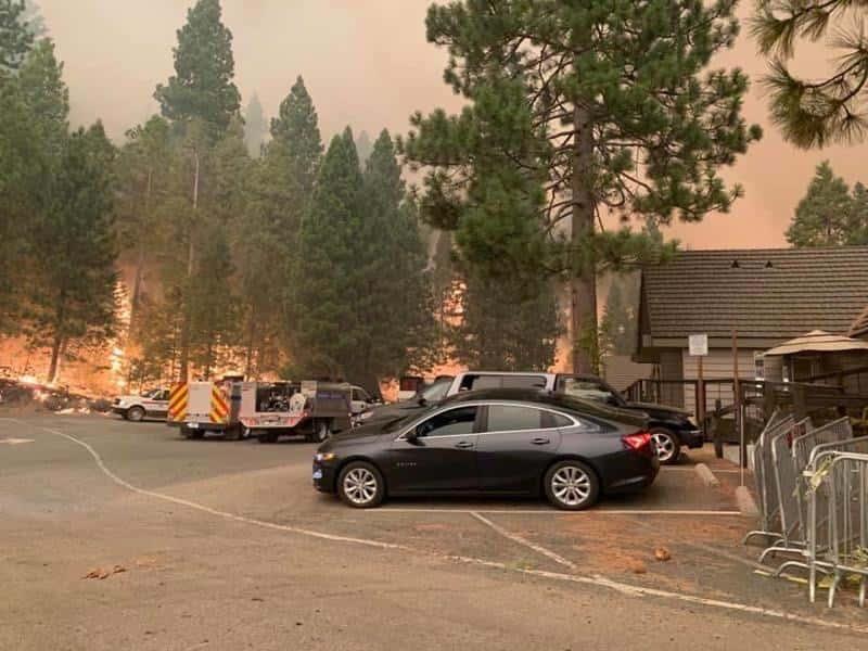 Photo of the Creek Fire near Shaver Lake, California